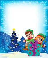 Christmas elf theme 7 - picture illustration.