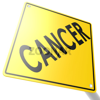 Road sign with cancer