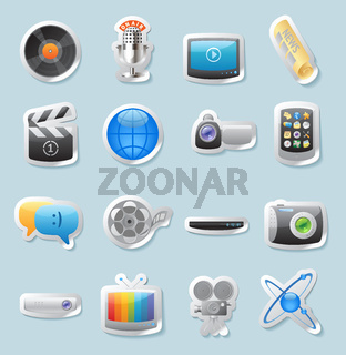 Sticker icons for media