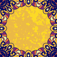 Vintage ornament round frame for text. Stylized vector design element.