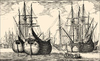ship of an East Indiaman, a ship of the Dutch East India Company, 17th century