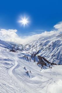 Mountain ski resort Hochgurgl Austria