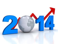 2014 year business grow concept