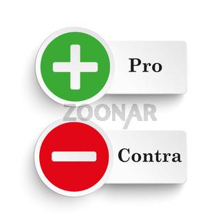 Pro Contra Round Icons