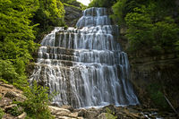 L'Eventail Waterfall, Menetrux-en-Joux,France