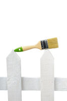 An image of paintbrush on white background