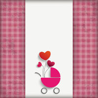 Vintage Pink Checked Cloth Girl Baby