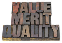value, merit, quality