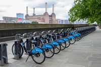 Barclays bikes in London