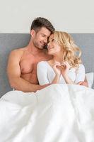 Sweet Happy Young Couple in Honeymoon