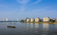 The river Thames in Greenwich, London, UK