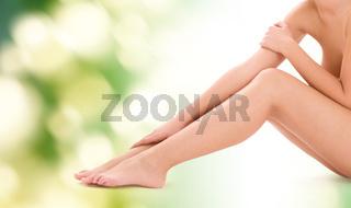 healthy beautiful bare woman legs