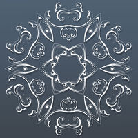 Ornamental round lace. Vector illustration