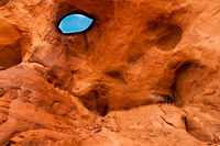The eye rock of Monument Valley