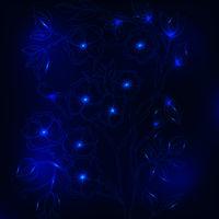 Vector chrysanthemum blue flower