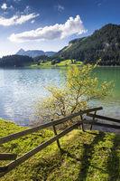 Lake in spring, Tannheimer Tal valley, Austria