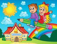 School kids theme image 7 - picture illustration.
