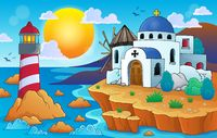 Greek theme image 7 - picture illustration.