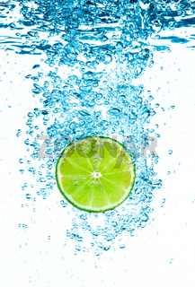 Green lime in the Water.