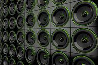 Lautsprecher Wand - Schwarz Grün 2