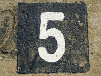 5 - weathered number