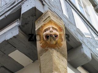 Detail einer Fachwerkfassade