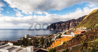 Picturesque Los Gigantes, is a resort in Tenerife. Canary Island, Spain