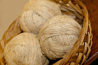 undyed handspun yarn in skeins