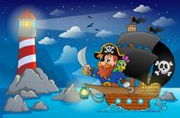 Pirate ship theme image 5 - picture illustration.