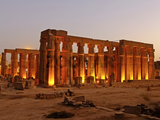 Luxor temple at night, Luxor, Egypt