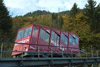 Wagon of the Niesen funicular,Bernese Oberland