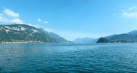 Lake Como (Italy) view from ship