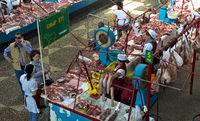 At the meat market, Almaty, Kazakhstan