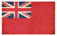 Red Ensign flag (merchant flag) of Great Britain