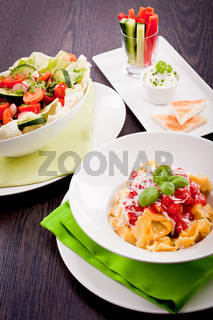 collection of different plates with healthy food