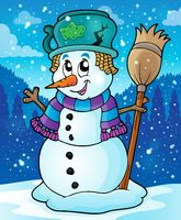 Winter snowman theme image 7 - picture illustration.