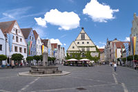 In the old Town of Weiden, Germany