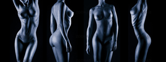 Sexy body nude woman.