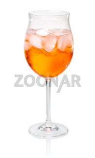 Aperol Spritz in a wine glass