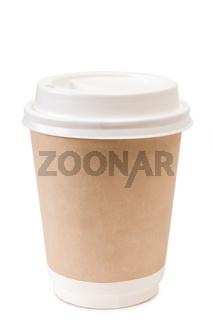 Papierbecher mit Kaffee