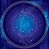 Celestial Map of The Night Sky (Blueprint)