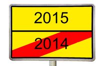Road sign 2014 2015