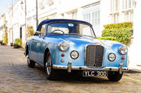 Blue Alvis converible in London