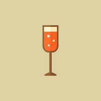 Champagne. Food Flat Icon