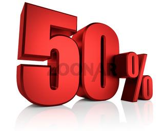 Red 50 Percent