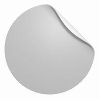 Blanko Aufkleber freigestellt - Rund Grau