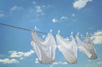 Mens underwear hanging on clothesline