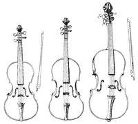 string instruments, violin, viola, cello