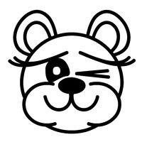 cute bear - winking