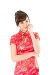 Chinese woman dress traditional cheongsam